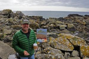 Curt Walters painting at St Michaels Mount