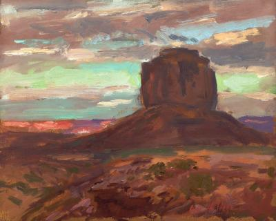 August Evening and Merrick Butte - Monument Valley