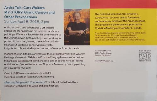 Art Talk In April: Curt to Speak at Tacoma Art Museum