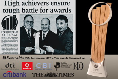 Sponsors of the Entrepreneur Of The Year Awards