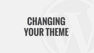 Changing Your Theme