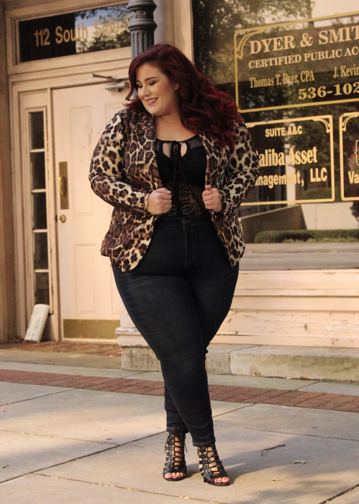 Plus Size Leopard Blazer Look from Fashion to Figure