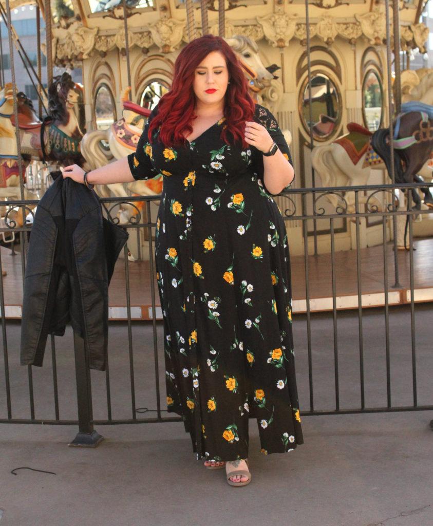 496fcfeaac5 ... Plus Size Challis Maxi Dress ...