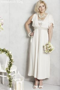 Plus size wedding gowns for mature brides