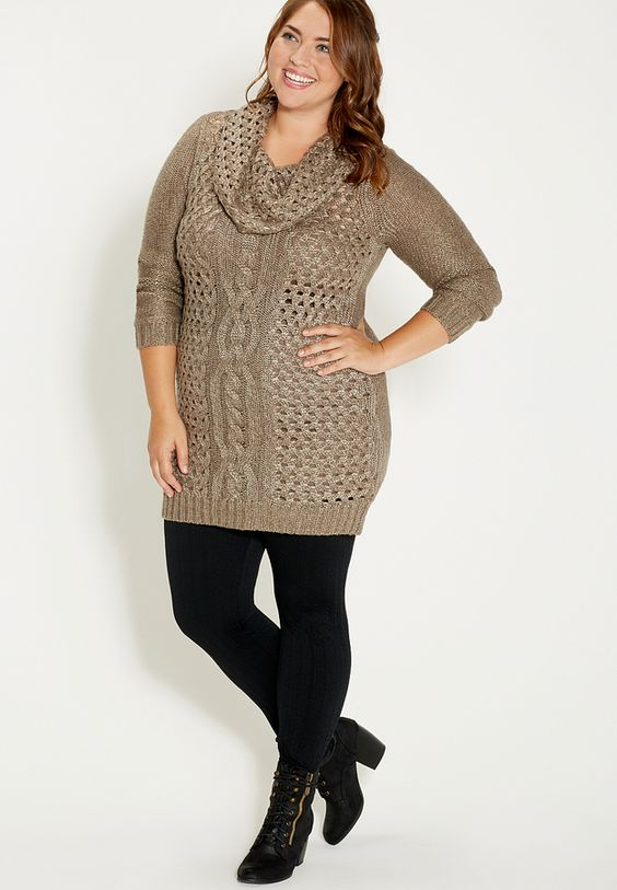 19 stylish ways to wear a plus size leggings outfit ...