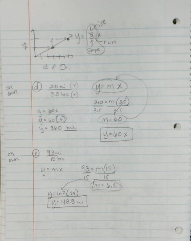 Fitzhugh III, H. Naylor / Honors Pre-Algebra Class Notes