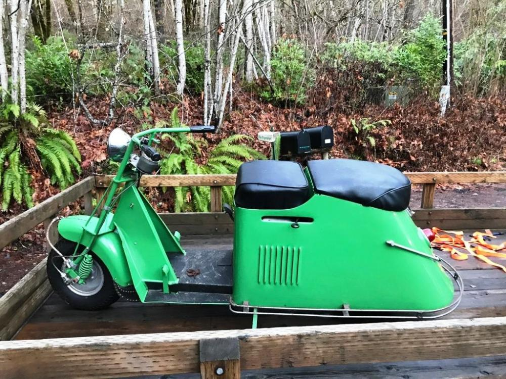 medium resolution of january 2019 1948 cushman step through completely restored by my late brother and i have stacks of receipts to show all that he did rebuilt engine with