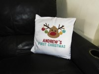 Baby's First Christmas Personalized Pillow - Customize Nation
