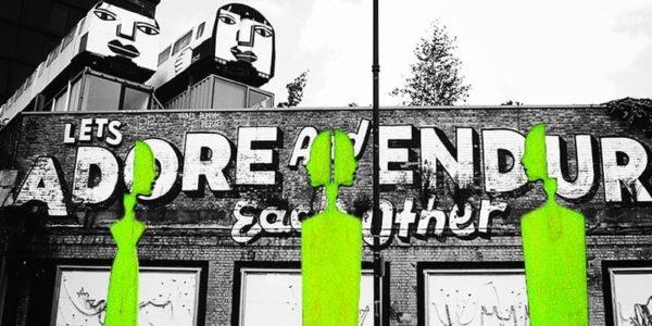 CC-BY-NC-ND 4.0 :: Composition—Linda Geßner / kultur.work :: Mural—Photo by Toa Heftiba / Unsplash.com :: Sculpture—Photo by AnnaER / Pixabay.com