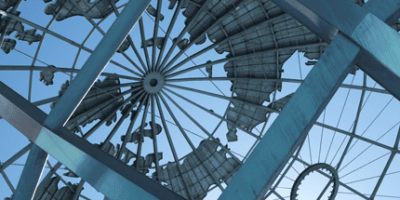 Unisphere, sculpture in NY, designed by Gilmore D. Clarke (Photo by Stephen Dettling / Flickr.com, licensed under CC-BY-NC 2.0)