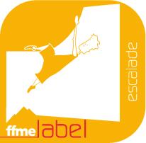 Label FFME d'escalade pour le club Cusset Vichy Escalade.