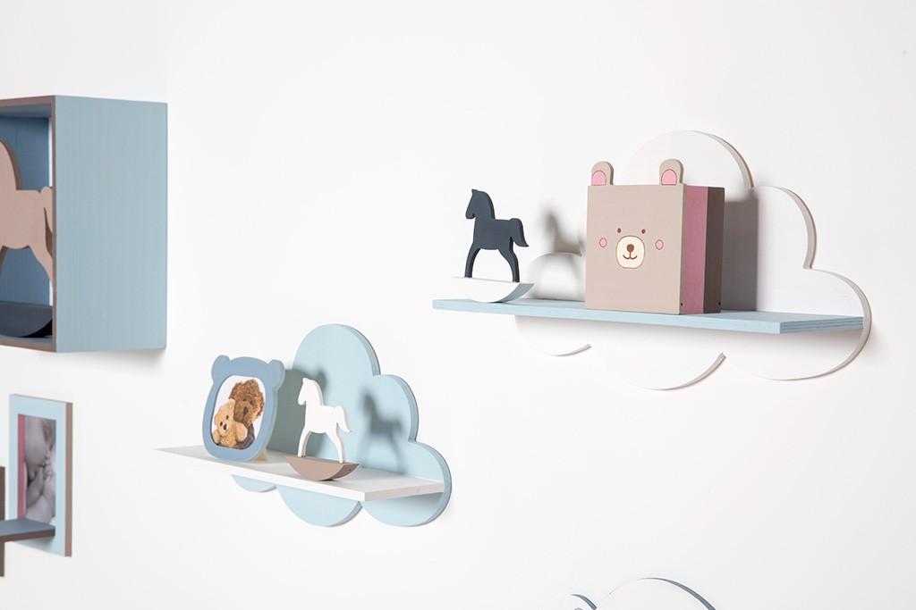 etagere murale nuage 39x22x11 cm