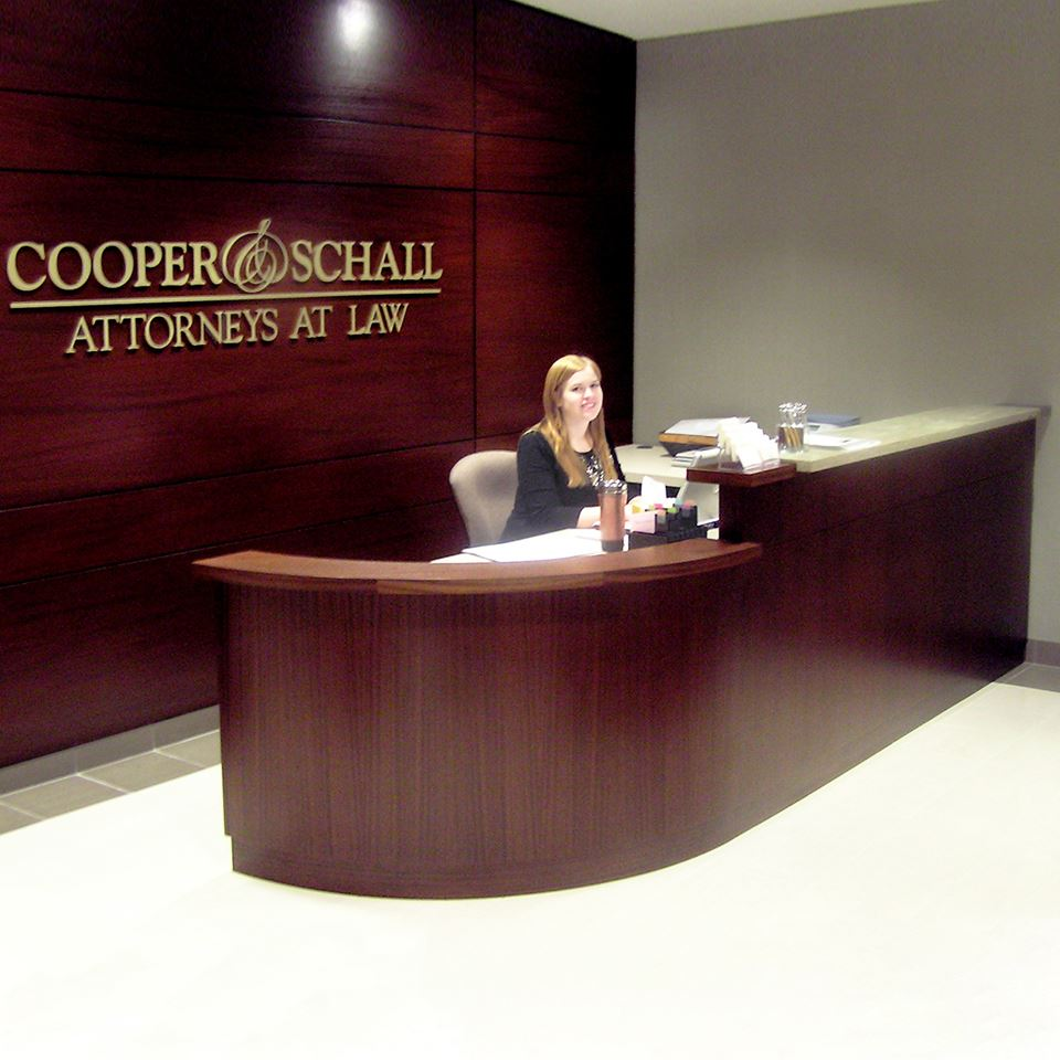 Cooper and Schall Reception Desk  Paul Downs Cabinetmakers