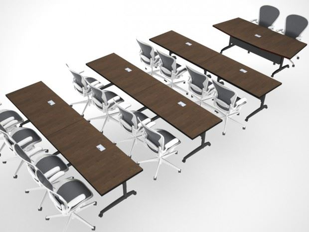 AGDIA Folding Modular Conference Table Paul Downs