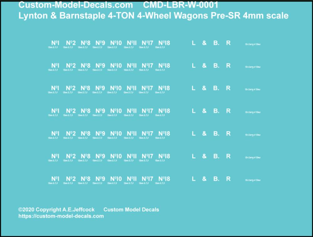 CMD-LBR-W-0001 Lynton & Barnstaple 4 Ton Open Wagons