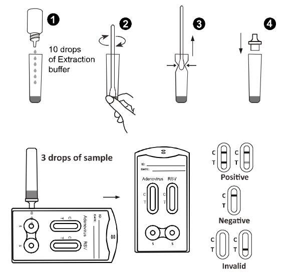 Adenovirus and RSV Combo Rapid Test Cassette