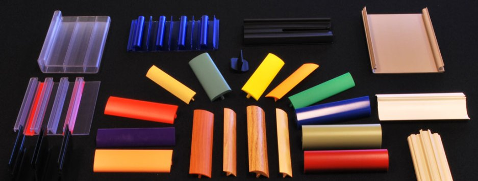 Sample extrusion parts produced by Custom Profile from various industries.