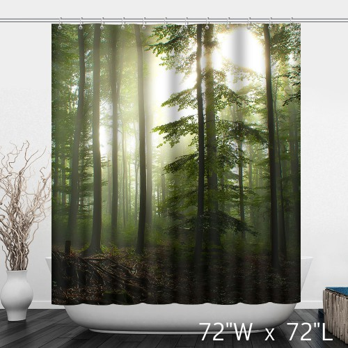 Original Forest Woods Trees Landscape Shower Curtain  Custom Shower Curtain Store