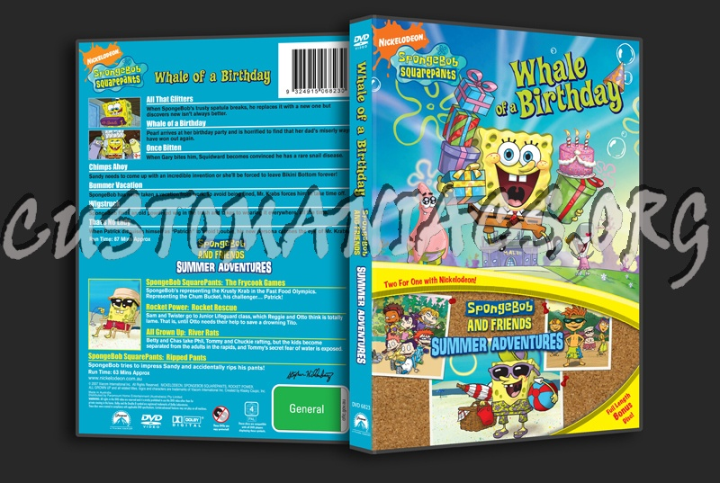 Spongebob Dvd Whale Birthday