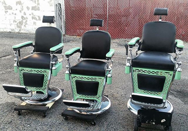 4 Matching Emil J. Paidars - Available Antique Barber Chairs - Welcome To Custom Barber Chairs