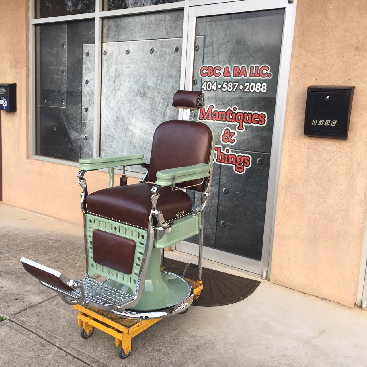 Emil J. Paidar barber chair ... - Project Antique Barber Chairs - Welcome To Custom Barber Chairs