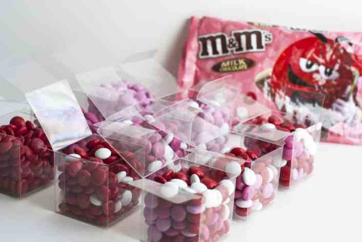 valentine days candy boxes