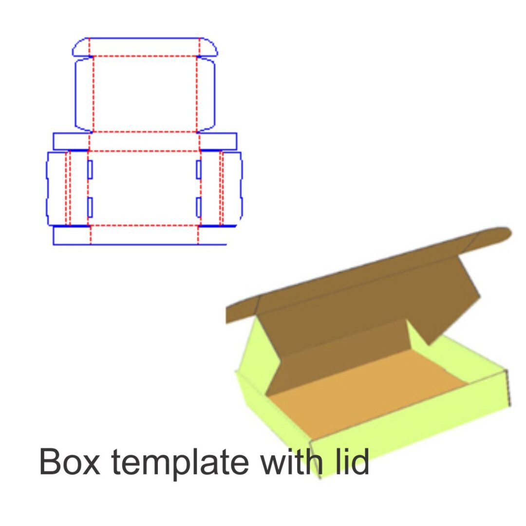 box template with lid