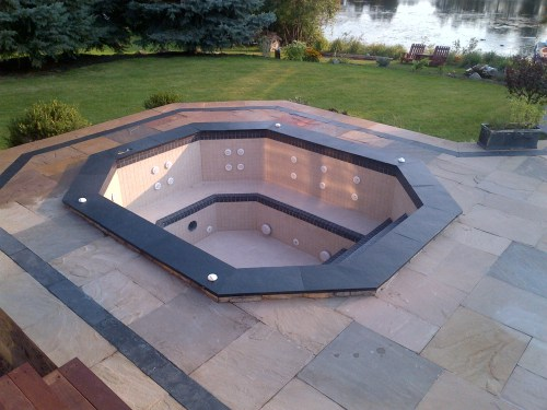 small resolution of permits for spas and hot tubs like this are required to build this hot tub