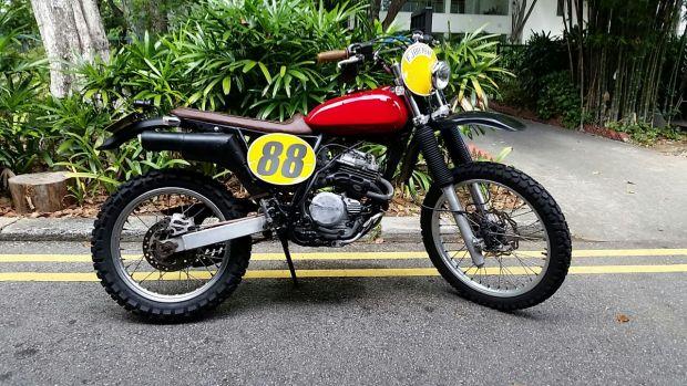 honda, xr250, custom, vintage style, motocross