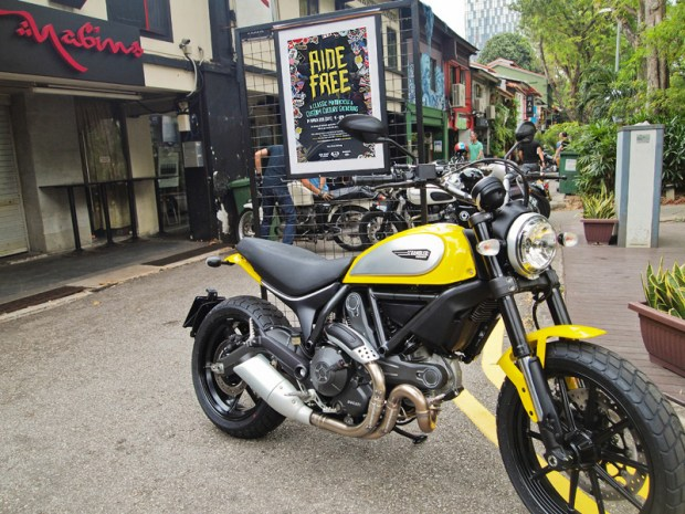 Ducati Scrambler at Ride Free Singapore