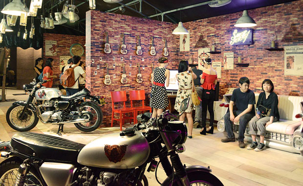 sailor jerry popup with customburner motorcycles
