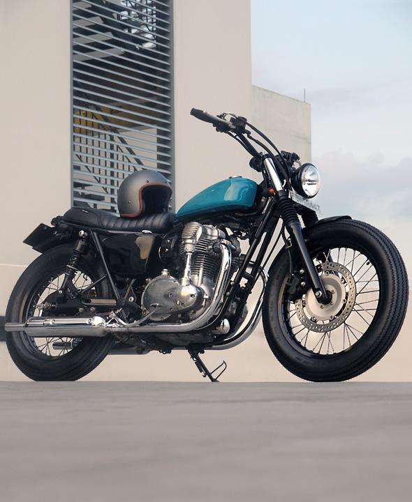 street tracker, kawasaki, w800,  custom motorcycle, tracker, bratstyle