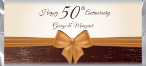 Anniversary 040 custom and personalized candy bar wrapper design