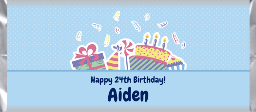 Birthday 045 custom and personalized candy bar wrapper design