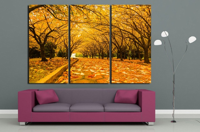 wall decor autumn scenery