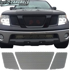 2005 2008 nissan frontier mesh grill set tap to expand [ 1499 x 1500 Pixel ]