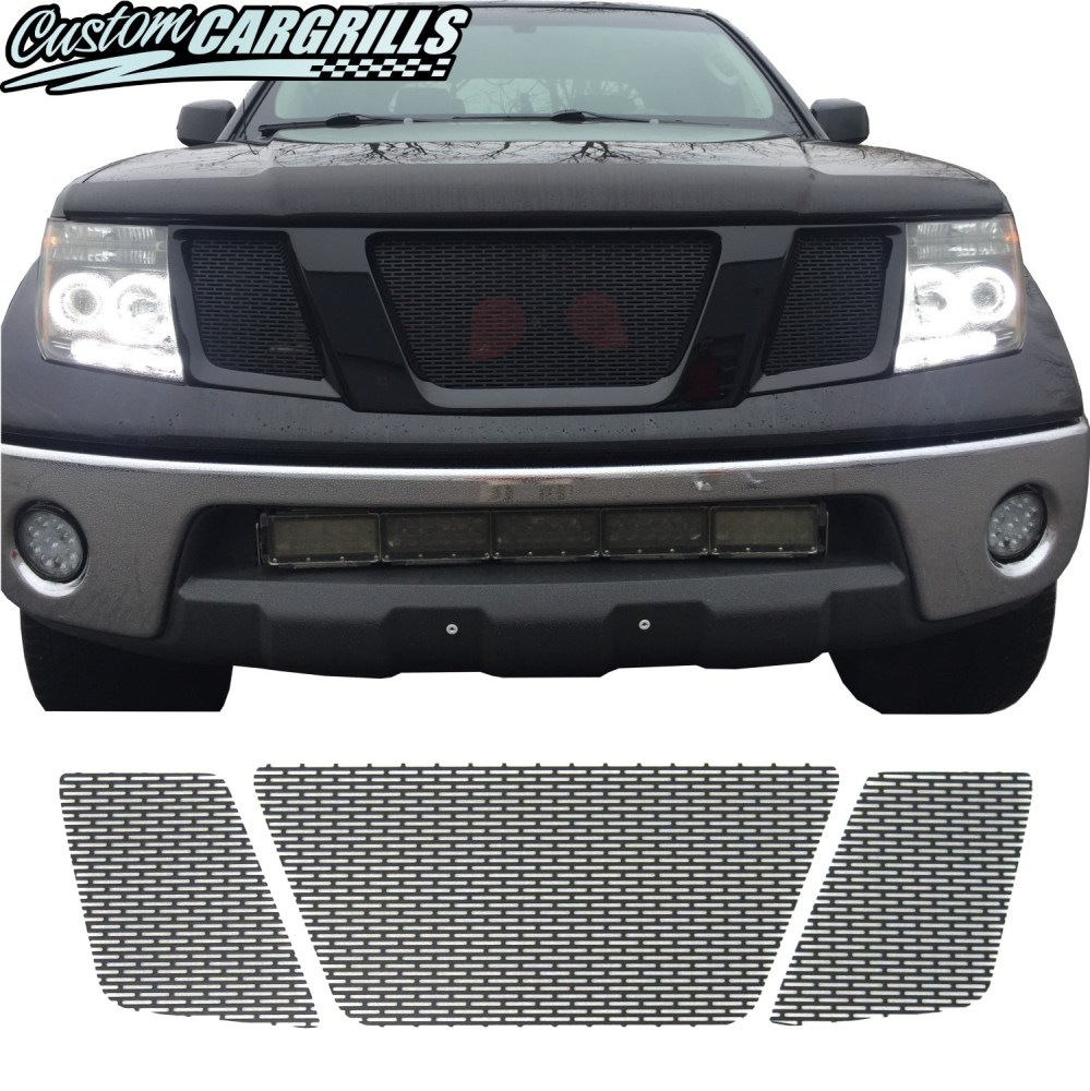 medium resolution of 2005 2008 nissan frontier mesh grill set tap to expand