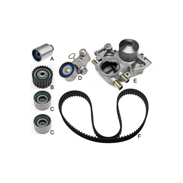 Gates Timing Belt Component Kit w/ Water Pump Subaru WRX