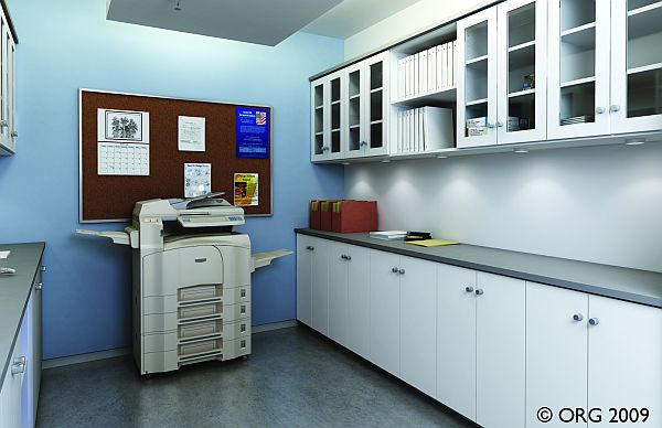 White commercial Office  Custom Closet Systems Inc
