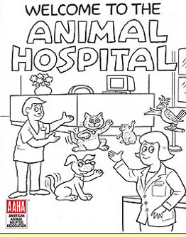 Welcome to the Animal Hospital, Educational Coloring Book