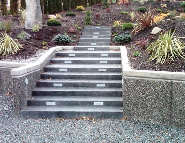 Concrete hardscapes for hillside homes