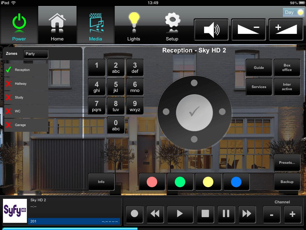 Crestron Touchpanel Interface