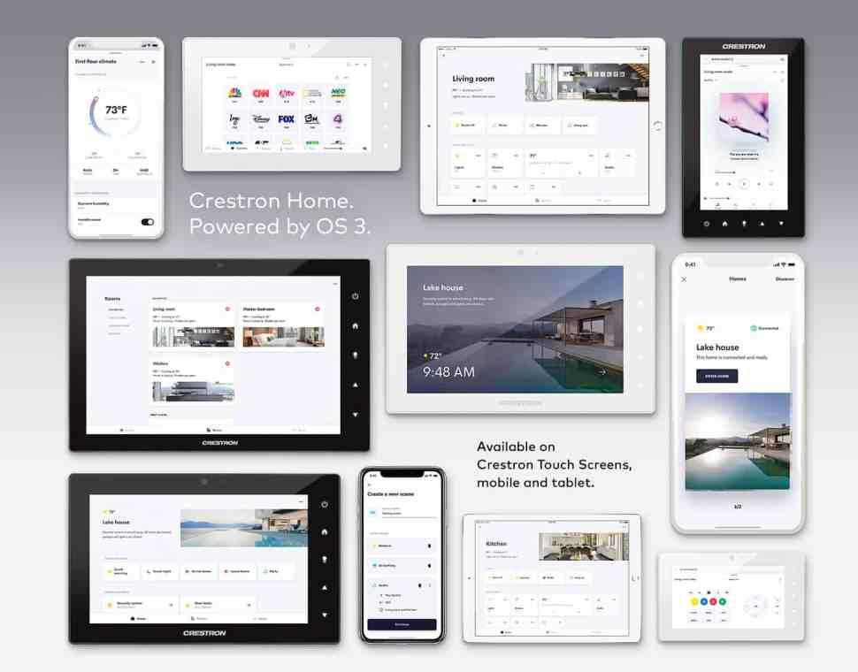 Crestron Home OS 3 Interfaces