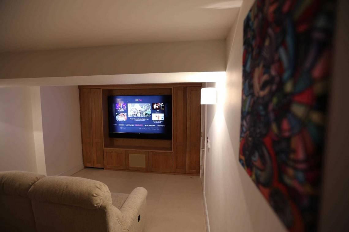 hight resolution of pimlico basement home cinema installation