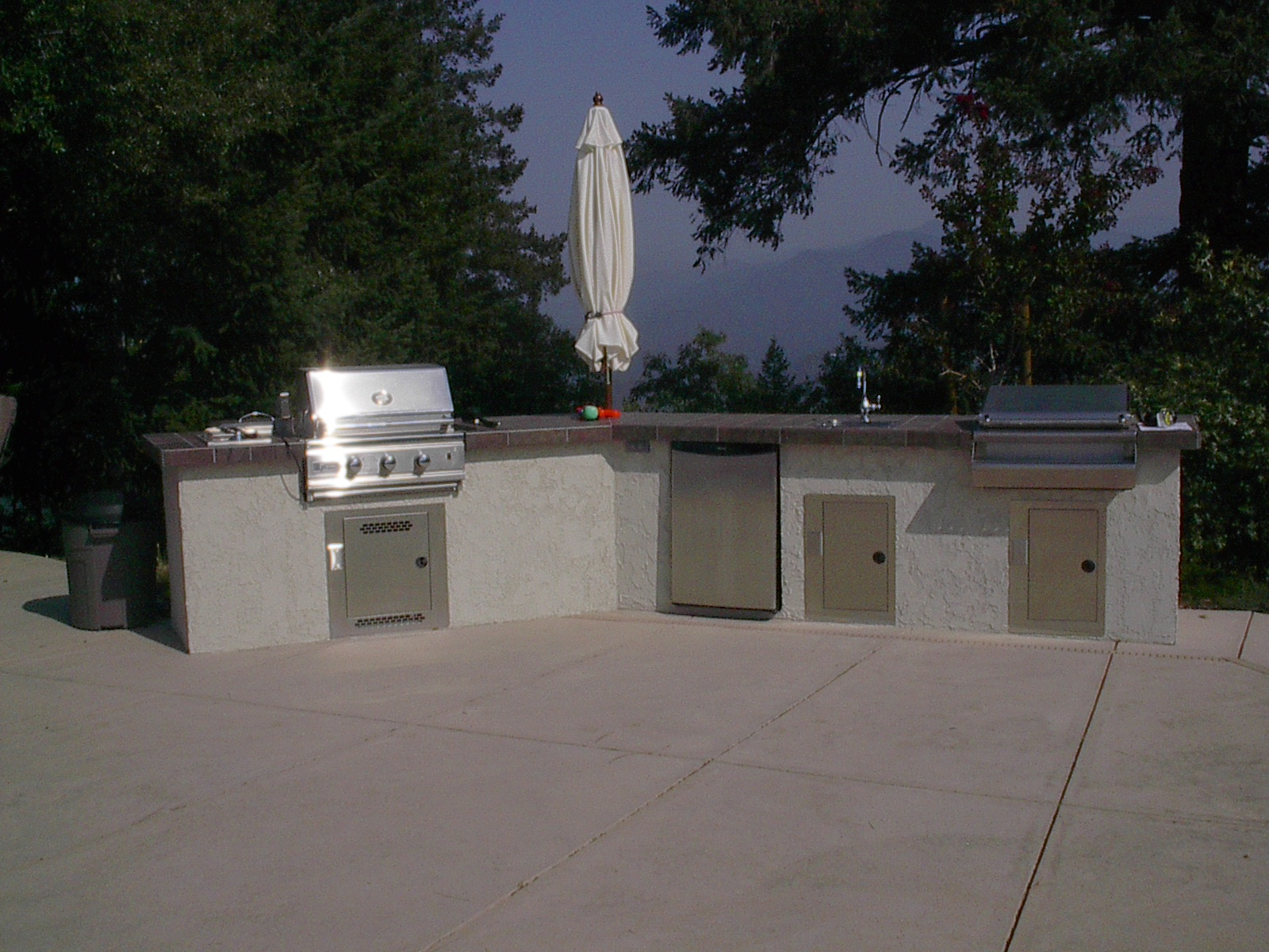 outdoor kitchen covers faucet lowes custom 4 swamp cooler roof vents satellite dish grills