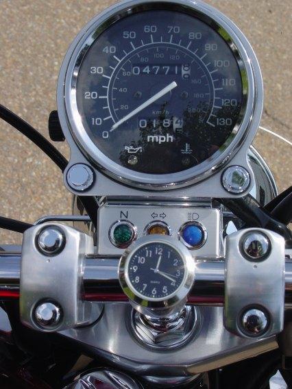 Triumph Motorcycle Clock Handlebar Clock bike thermometer temp gauge Watch