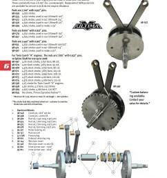 ultima crank assy 4 00 twin cam a 88ci midwest 98 597 harley davidson 88ci engine diagram [ 1652 x 2338 Pixel ]