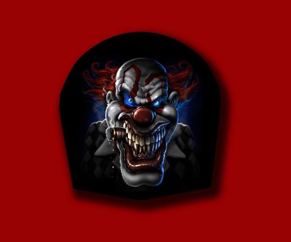 Harley Davidson Custom Horn Cover - Clown