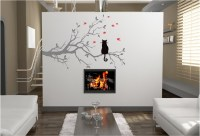 CAT IN A TREE VINYL WALL ART STICKERS GRAPHICS DESIGN ...