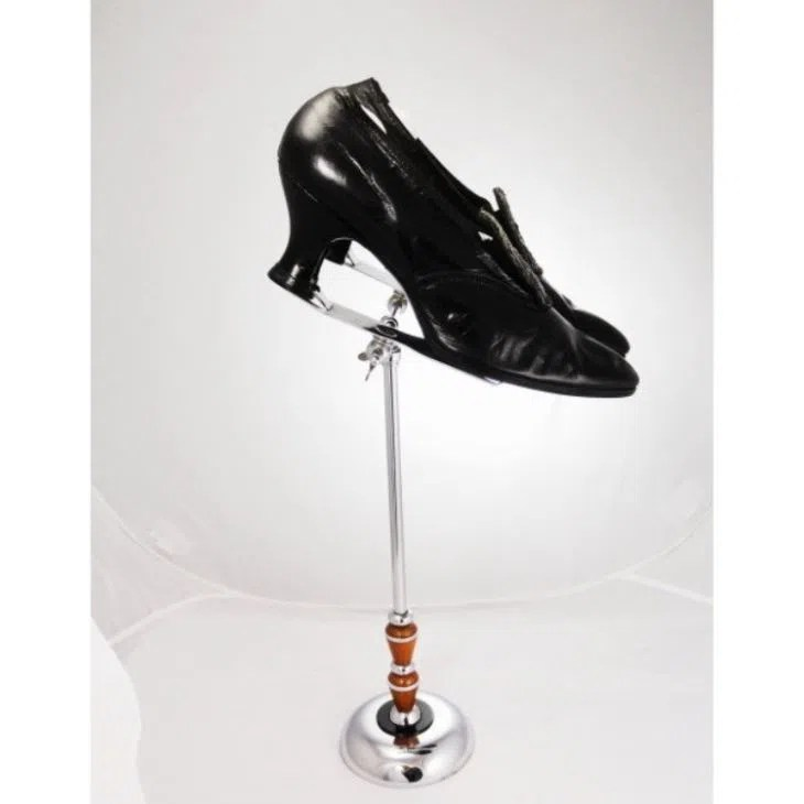 Vintage Retail Shoe Rotating Display Stands Holder for